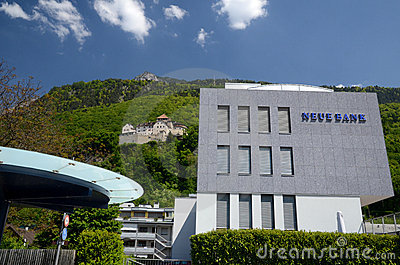 Castle Vaduz - view from center Editorial Photography
