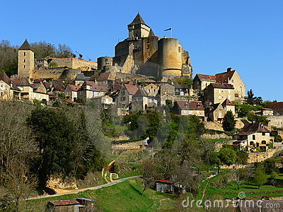 Castle and village,Castelnaud-la-Chapelle (France)