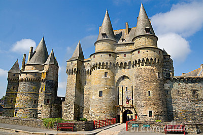 Castle of Vitré, Brittany, France