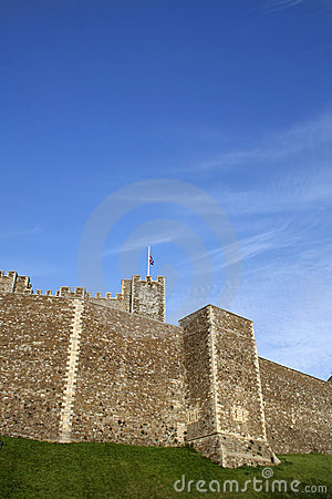 Castle walls and sky