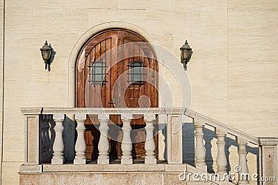 Castle wooden doors