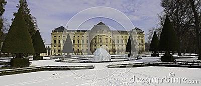Castle Wuerzburg in the winter