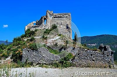 The castle Zuccarello, Savona, Italy