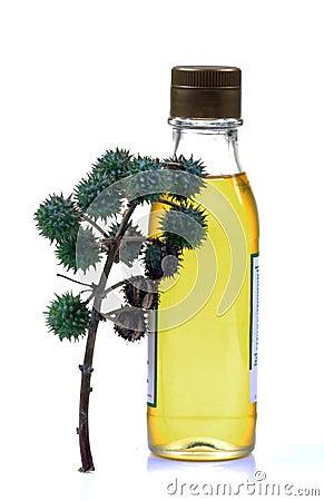 Castor oil bottle