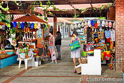 Castries St. Lucia - Souviner Shopping Editorial Photo