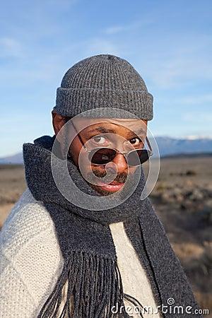 Casual African American man