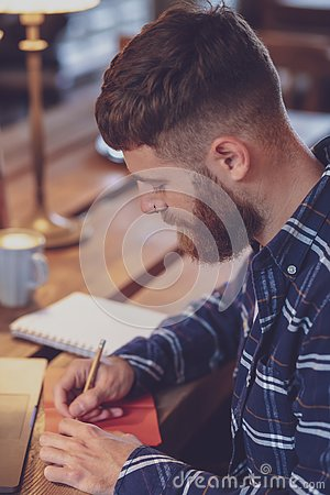 Free Casual Business Man Or Freelancer Planning His Work On Notebook, Royalty Free Stock Image - 127933326