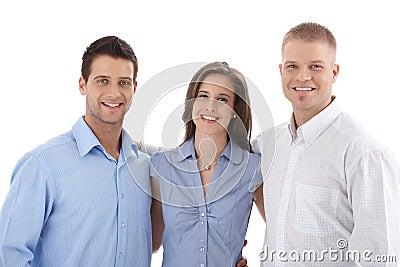 Casual business team portrait