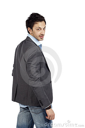 Free Casual Businessman Looking Back Stock Photos - 19301333