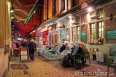 Casual dinning in Brussels, Belgium Editorial Stock Image