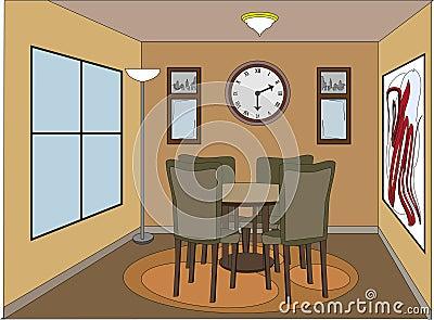 cartoondining room. Black Bedroom Furniture Sets. Home Design Ideas