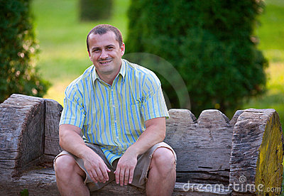 Casual Dressed Young Man Outdoor Royalty Free Stock Images - Image: 16146259