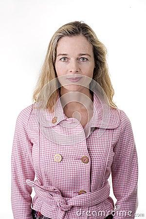 Casual european woman
