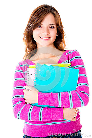 Casual female student