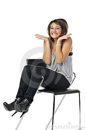 Casual Girl Sitting