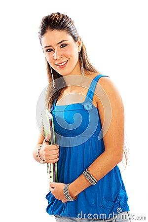 Casual girl at university