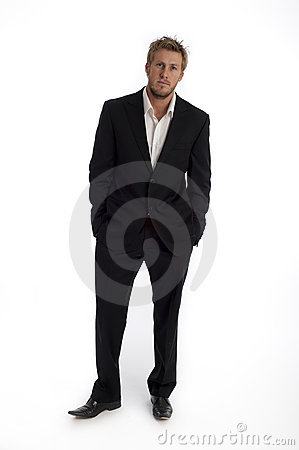 Casual looking male business type isolated against