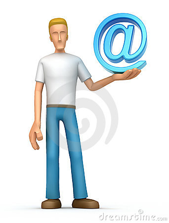 Casual man with e-mail