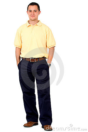 Casual man standing isolated