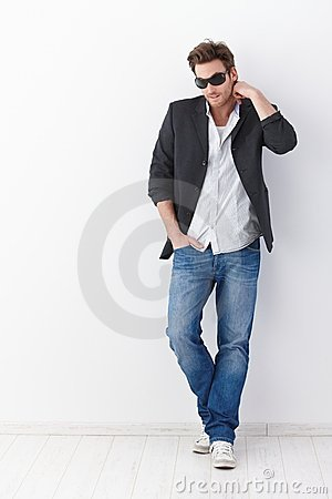 Casual man in sunglasses