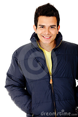 Casual man wearing jacket