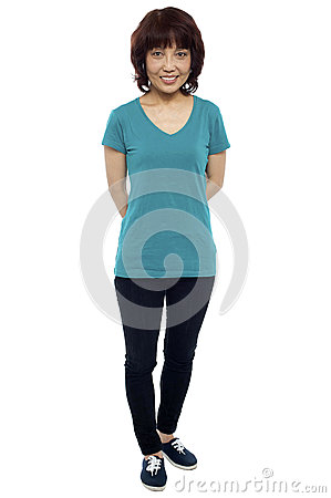 Casual portrait of beautiful asian woman