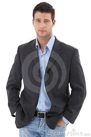Casual portrait of young businessman