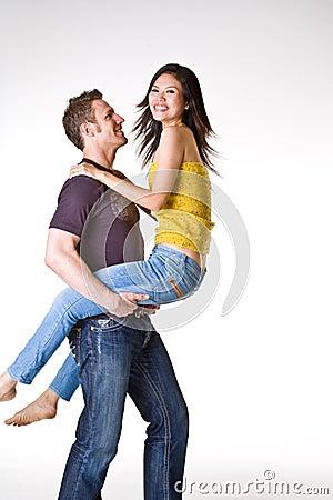 Casual romantic couple