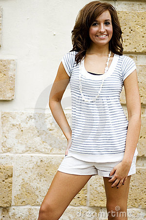 Casual Teen Fashion Model
