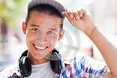 Casual teenage boy