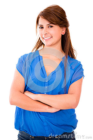 Casual woman with arms crossed