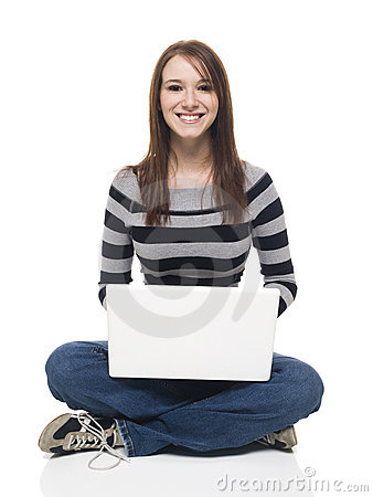 Casual Woman - Laptop