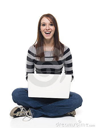 Casual Woman - Laptop Surprise