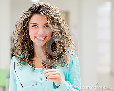 Casual woman smiling