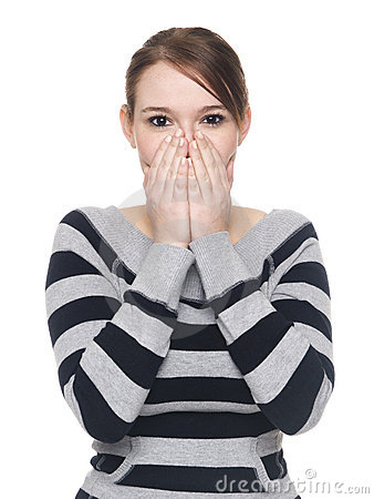 Casual woman - speak no evil