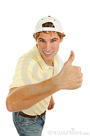Casual Young Man Thumbsup