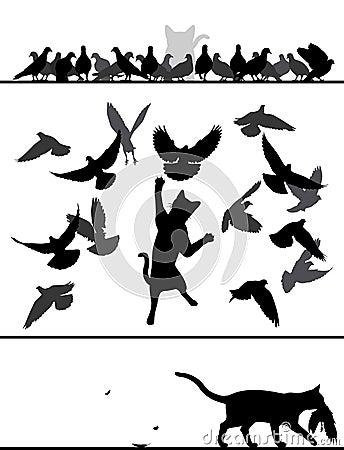 Cat amongst pigeons
