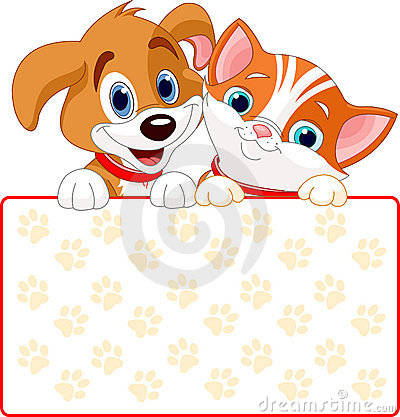 Free Cat And Dog Sign Royalty Free Stock Photos - 15843108