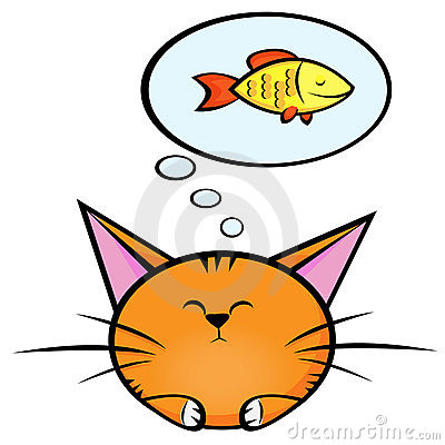 Free Cat And Fish2 Royalty Free Stock Images - 8578919
