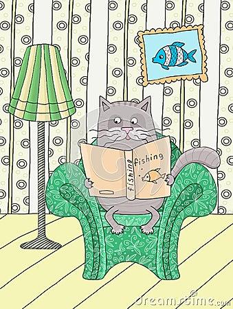 Cat in an armchair