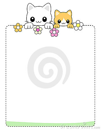 Cat background / border