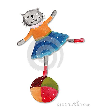 Cat on the ball