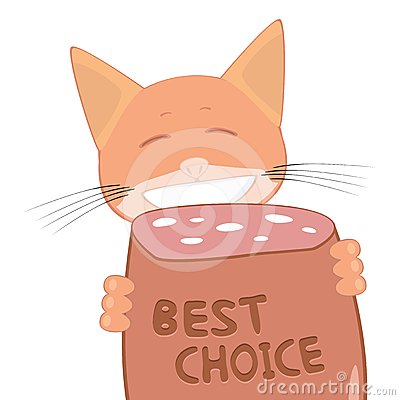 Cat and best choice sausage