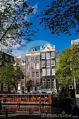 Free Cat Boat - Houseboat,  Amsterdam Royalty Free Stock Image - 49583006