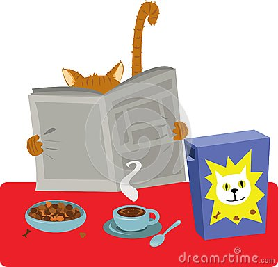Cat Breakfast