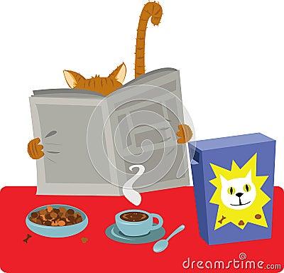 Cat Breakfast