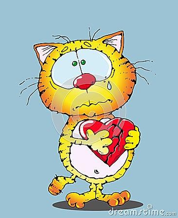 Cat and a broken heart