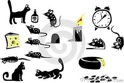 Cat, cheese, mice