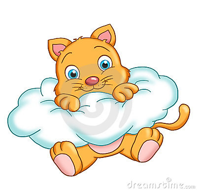 Cat on a cloud