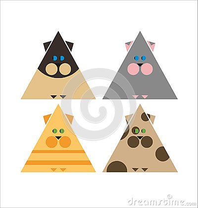 Cat collection stylized Vector Illustration